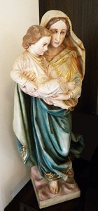 This statue of Blessed Mary graces the SW corner of our Nave